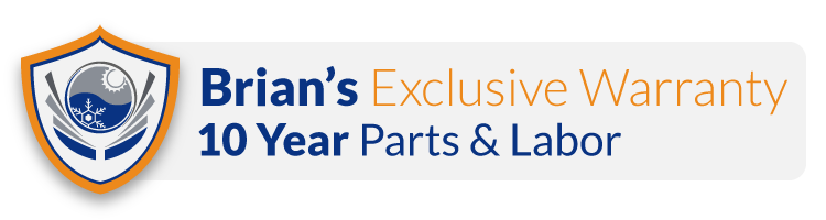 10 Year Parts and 10 year Labor Warranty